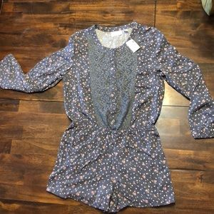 Children's place floral long sleeve romper 10/12